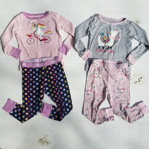 3T Long Sleeve Pajamas - Set of 2
